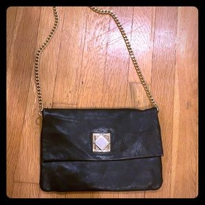 Michael Kors Black Leather Clutch